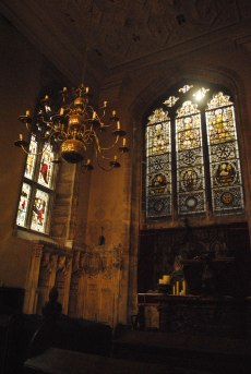 The chapel in the keep.