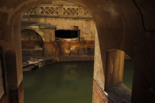 Hot spring in the baths.
