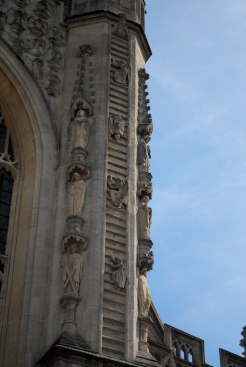 Jacob's ladder depicted on the front of the abbey.